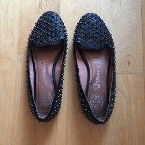 Jeffrey Campbell black spiky flats